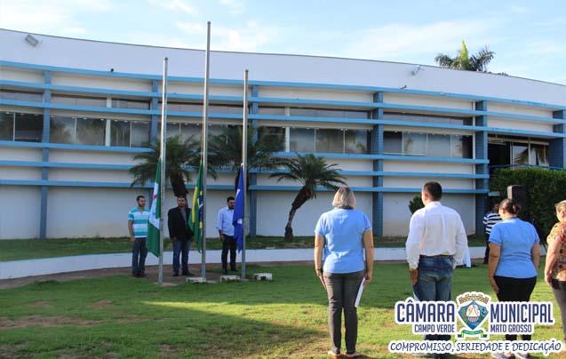 Ato Cívico de Hasteamento de Bandeira - Câmara Municipal de Vereadores