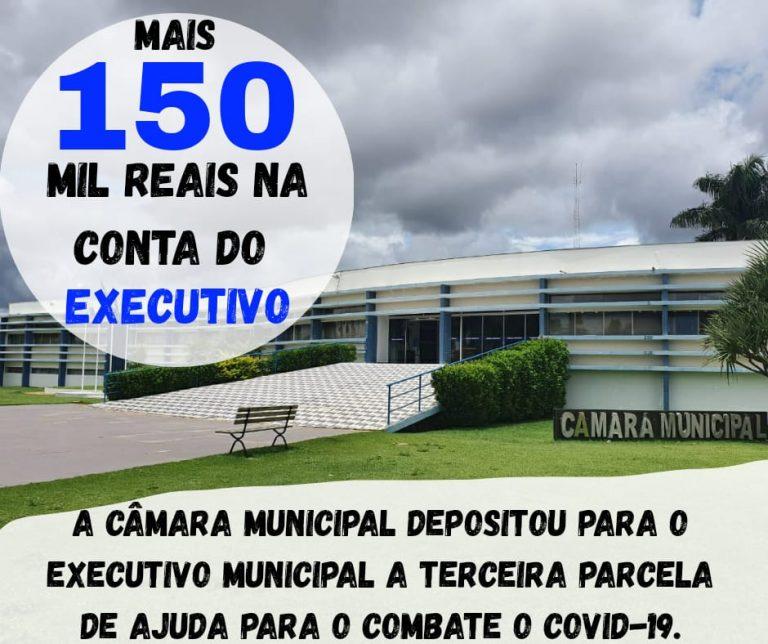 A Câmara Municipal depositou a 3 parcela para o Executivo investir em medidas ao combate ao Coronavírus.